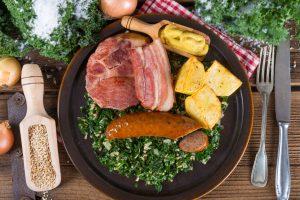 German dishes Kale stew